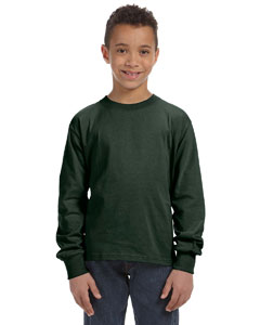 Forest Green Youth 5 oz., 100% Heavy Cotton HD® Long-Sleeve T-Shirt