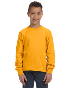 Gold Youth 5 oz., 100% Heavy Cotton HD® Long-Sleeve T-Shirt