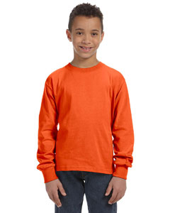 Burnt Orange Youth 5 oz., 100% Heavy Cotton HD® Long-Sleeve T-Shirt