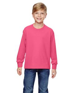 Neon Pink Youth 5 oz., 100% Heavy Cotton HD® Long-Sleeve T-Shirt
