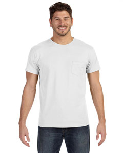 White 4.5 oz., 100% Ringspun Cotton nano-T® T-Shirt with Pocket