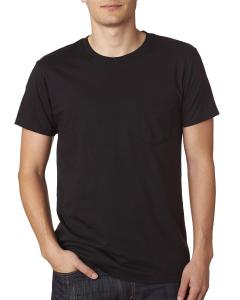 Black 4.5 oz., 100% Ringspun Cotton nano-T® T-Shirt with Pocket