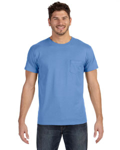 Vintage Blue 4.5 oz., 100% Ringspun Cotton nano-T® T-Shirt with Pocket