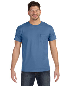 Vintage Denim 4.5 oz., 100% Ringspun Cotton nano-T® T-Shirt with Pocket