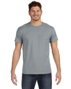 Vintage Gray 4.5 oz., 100% Ringspun Cotton nano-T® T-Shirt with Pocket