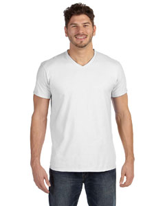 White 4.5 oz., 100% Ringspun Cotton nano-T® V-Neck T-Shirt
