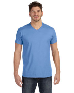 Vintage Blue 4.5 oz., 100% Ringspun Cotton nano-T® V-Neck T-Shirt