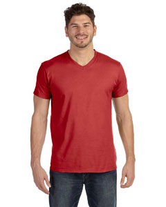 Vintage Red 4.5 oz., 100% Ringspun Cotton nano-T® V-Neck T-Shirt