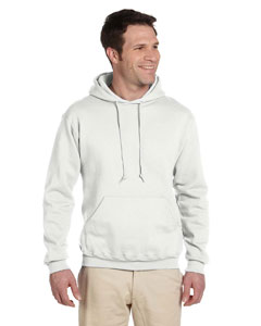 White Adult 9.5 oz. Super Sweats® NuBlend® Fleece Pullover Hood