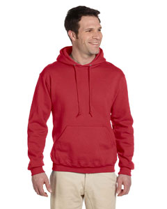 True Red 9.5 oz., 50/50 Super Sweats® NuBlend® Fleece Pullover Hood