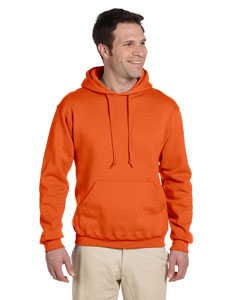 Safety Orange 9.5 oz., 50/50 Super Sweats® NuBlend® Fleece Pullover Hood