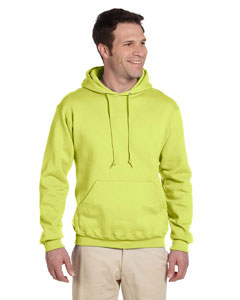 Safety Green Adult 9.5 oz. Super Sweats® NuBlend® Fleece Pullover Hood