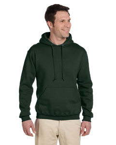 Forest Green 9.5 oz., 50/50 Super Sweats® NuBlend® Fleece Pullover Hood