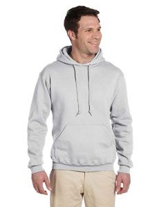 Ash Adult 9.5 oz. Super Sweats® NuBlend® Fleece Pullover Hood