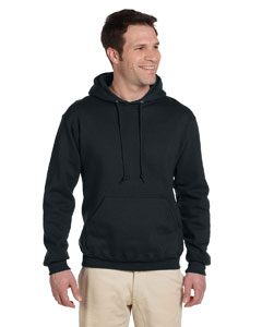Black Adult 9.5 oz. Super Sweats® NuBlend® Fleece Pullover Hood