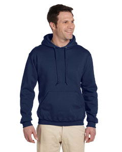 J Navy Adult 9.5 oz. Super Sweats® NuBlend® Fleece Pullover Hood