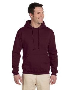 Maroon 9.5 oz., 50/50 Super Sweats® NuBlend® Fleece Pullover Hood
