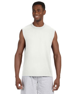 White 5 oz. HiDENSI-T® Sleeveless T-Shirt