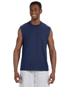 J Navy 5 oz. HiDENSI-T® Sleeveless T-Shirt