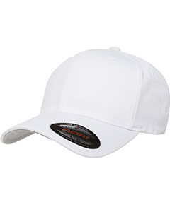 White 6-Panel Structured Mid-Profile Cap