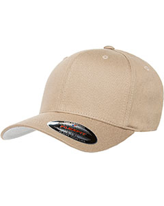 Khaki 6-Panel Structured Mid-Profile Cap
