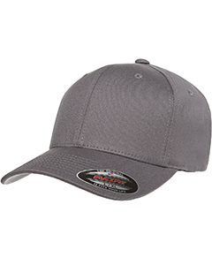 Grey 6-Panel Structured Mid-Profile Cap