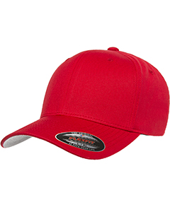 Red 6-Panel Structured Mid-Profile Cap