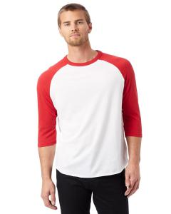 White/ Red Men's Vintage Baseball T-Shirt