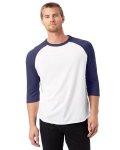 White/ Navy Men's Vintage Baseball T-Shirt