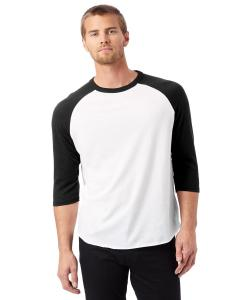White/ Black Men's Vintage Baseball T-Shirt