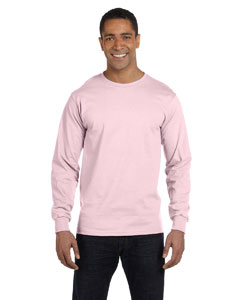 Pale Pink 6.1 oz. Long-Sleeve Beefy-T®