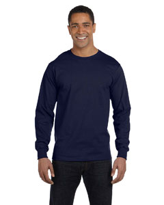 Navy 6.1 oz. Long-Sleeve Beefy-T®