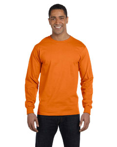 Orange 6.1 oz. Long-Sleeve Beefy-T®