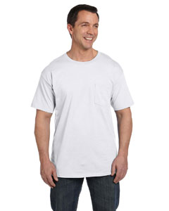 White 6.1 oz. Beefy-T® with Pocket