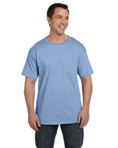 Light Blue 6.1 oz. Beefy-T® with Pocket