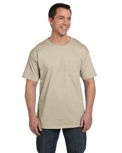 Sand 6.1 oz. Beefy-T® with Pocket