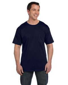 Navy 6.1 oz. Beefy-T® with Pocket