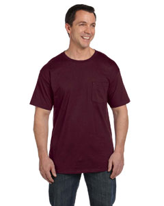Maroon 6.1 oz. Beefy-T® with Pocket