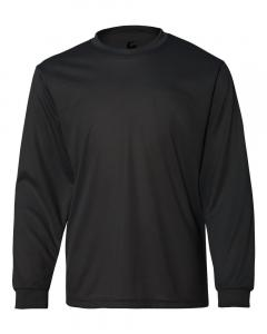 Black Youth Performance Long Sleeve T-Shirt
