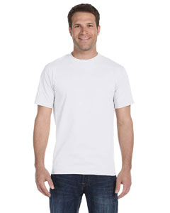 White 5.2 oz. ComfortSoft® Cotton T-Shirt