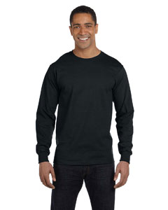 Black 5.2 oz. ComfortSoft® Cotton Long-Sleeve T-Shirt
