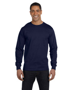 Navy 5.2 oz. ComfortSoft® Cotton Long-Sleeve T-Shirt