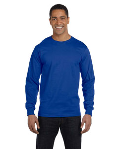 Deep Royal 5.2 oz. ComfortSoft® Cotton Long-Sleeve T-Shirt