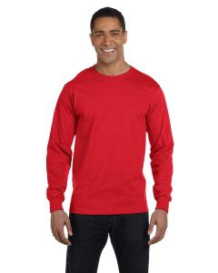 Athletic Red 5.2 oz. ComfortSoft® Cotton Long-Sleeve T-Shirt