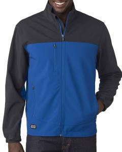 Tech Bl/ Char Men's Poly Spandex Motion Softshell Jacket