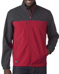 Red/ Charcoal Men's Poly Spandex Motion Softshell Jacket