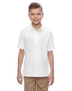 White Youth 5.3 oz. Easy Care™  Polo
