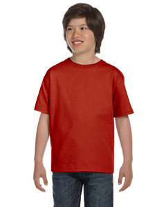 Deep Red Youth Unisex 6.1 oz. Beefy-T®