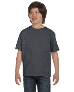 Charcoal Heather Youth Unisex 6.1 oz. Beefy-T®