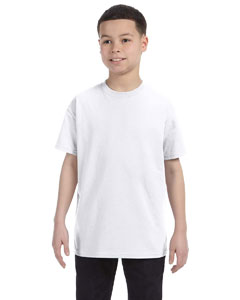 White Youth Unisex 6.1 oz. Tagless® T-Shirt